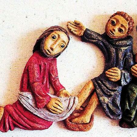 Jésus lave les pieds de Simon-Pierre
